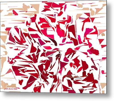 Abstract Geranium Metal Print