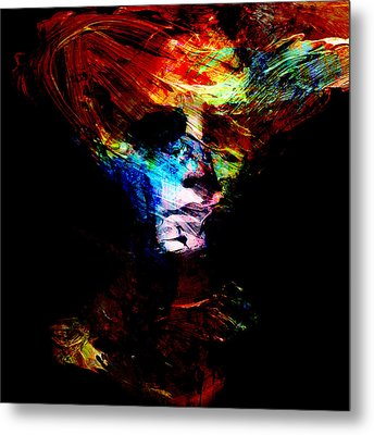 Abstract Ghost Metal Print