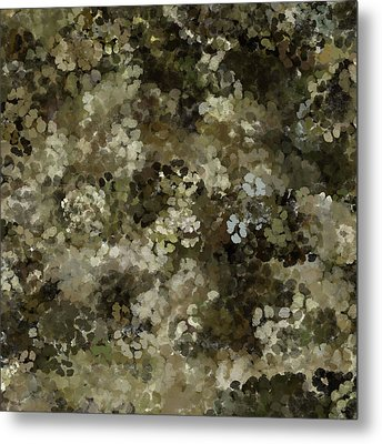 Metal Print featuring the mixed media Abstract Gold Black White 5 by Clare Bambers