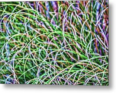 Abstract Grass Metal Print