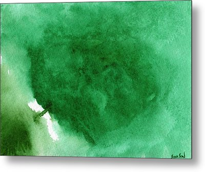 Abstract Green Metal Print by Sean Seal