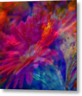 Abstract Gypsy Flower Metal Print