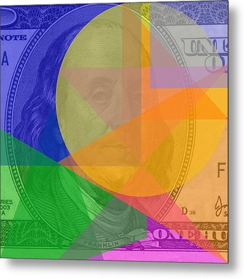 Abstract Hundred Dollar Bill Metal Print by Dan Sproul