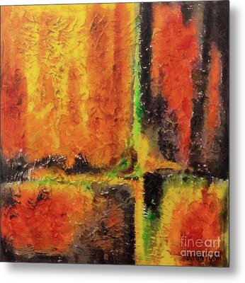 Metal Print featuring the mixed media abstract I by Dragica  Micki Fortuna