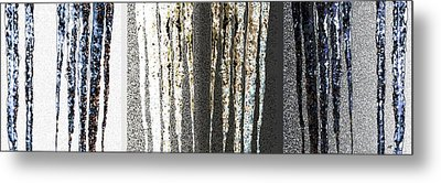 Metal Print featuring the digital art Abstract Icicles by Will Borden