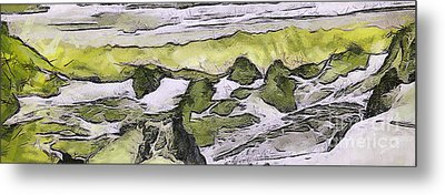 Abstract In Green Metal Print by Odon Czintos