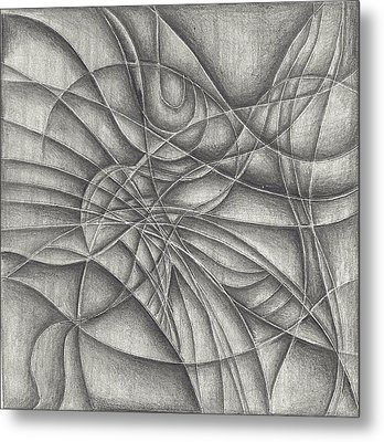 Abstract In Pencile Metal Print by Karen Musick