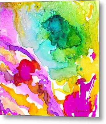 Transcendent Love 1 Abstract Ink Art Colorful Original Artwork Metal Print