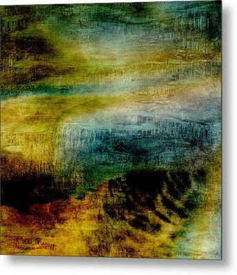 Abstract Iris 2 Metal Print by Bonnie Bruno