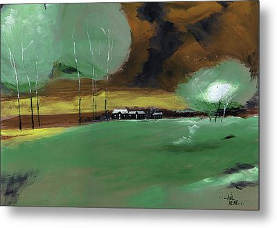 Metal Print featuring the painting Abstract Landscape by Anil Nene