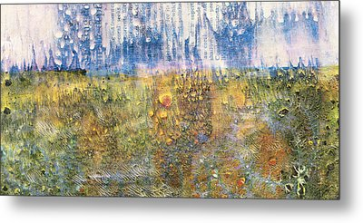 Abstract Landscape Art - Only Words - Sharon Cummings Metal Print by Sharon Cummings