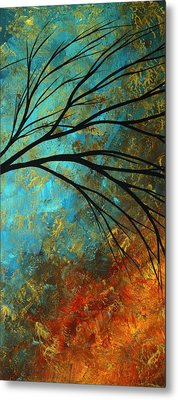 Abstract Landscape Art Passing Beauty 4 Of 5 Metal Print by Megan Duncanson