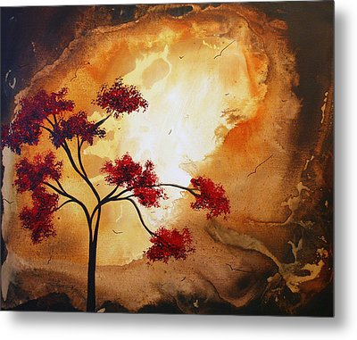 Abstract Landscape Painting Empty Nest 12 By Madart Metal Print by Megan Duncanson
