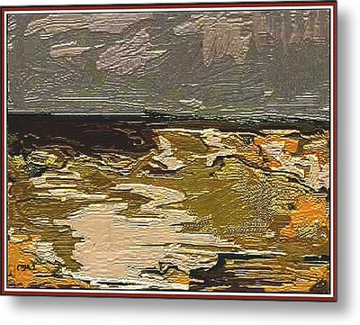 Metal Print featuring the digital art Abstract Landscape by Pemaro