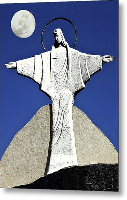 Abstract Lutheran Cross 5 Metal Print by Bruce Iorio