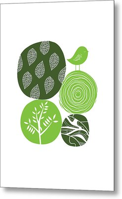 Abstract Nature Green Metal Print by BONB Creative