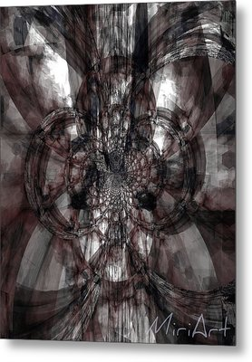 Abstract Neutrals Metal Print by Miriam Shaw