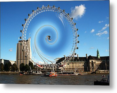 Abstract Of The Millennium Wheel Metal Print