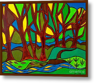 Abstract Of The Otter Pool Metal Print