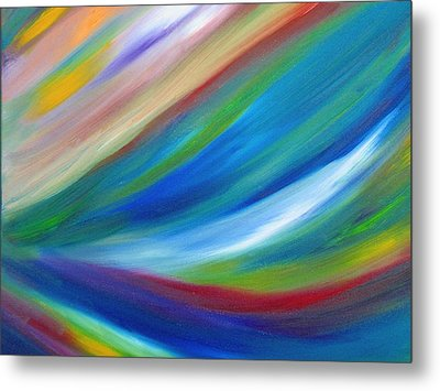 Metal Print featuring the painting Abstract Oil Painting by Beth Akerman