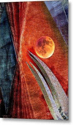 Abstract On Moon Metal Print