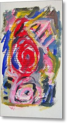 Abstract On Paper No. 24 Metal Print by Michael Henderson