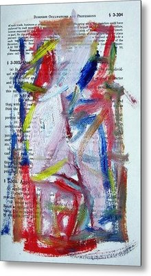 Abstract On Paper No. 35 Metal Print by Michael Henderson