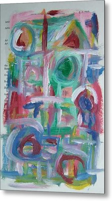 Abstract On Paper No. 38 Metal Print by Michael Henderson
