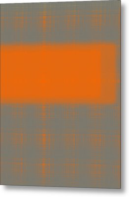 Abstract Orange 3 Metal Print