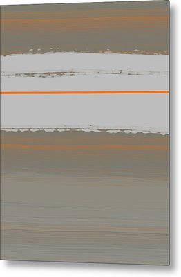 Abstract Orange 4 Metal Print by Naxart Studio