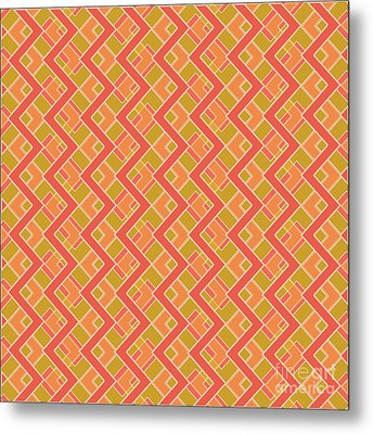 Abstract Orange, Red And Brown Pattern For Home Decoration Metal Print by Pablo Franchi