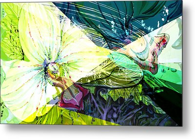 Abstract Orchid Metal Print by Mindy Newman