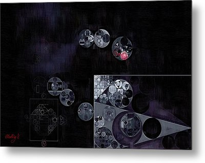 Abstract Painting - Black Metal Print