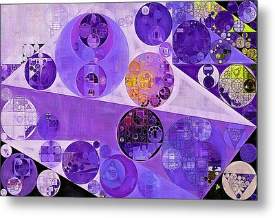 Abstract Painting - Blackcurrant Metal Print