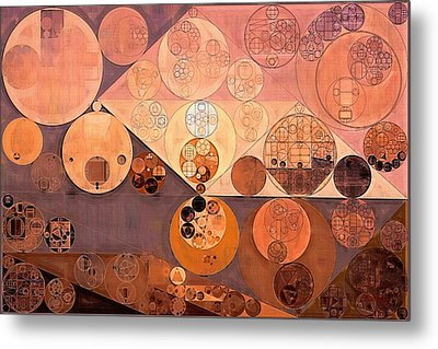 Abstract Painting - Bordeaux Metal Print