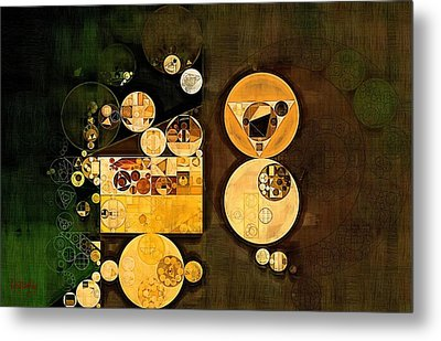 Abstract Painting - Caffe Noir Metal Print
