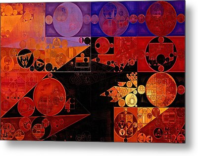 Abstract Painting - Chilean Fire Metal Print