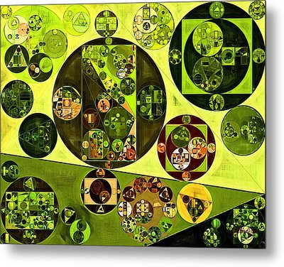 Abstract Painting - Citron Metal Print