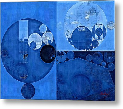 Abstract Painting - Denim Metal Print