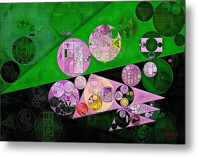 Abstract Painting - India Green Metal Print