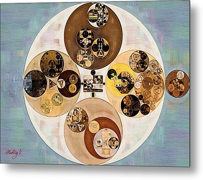 Abstract Painting - Indian Tan Metal Print
