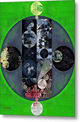 Abstract Painting - Kelly Green Metal Print