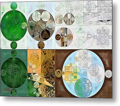 Abstract Painting - Malachite Green Metal Print by Vitaliy Gladkiy