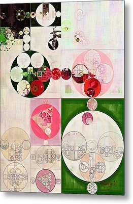 Abstract Painting - Old Rose Metal Print