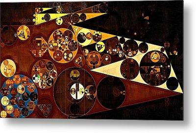 Abstract Painting - Peru Tan Metal Print by Vitaliy Gladkiy