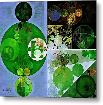 Abstract Painting - Phthalo Green Metal Print by Vitaliy Gladkiy