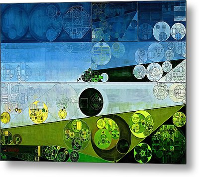 Abstract Painting - Prussian Blue Metal Print