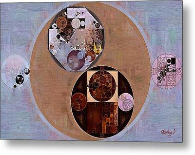 Abstract Painting - Seal Brown Metal Print by Vitaliy Gladkiy