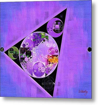 Metal Print featuring the digital art Abstract Painting - Slate Blue by Vitaliy Gladkiy