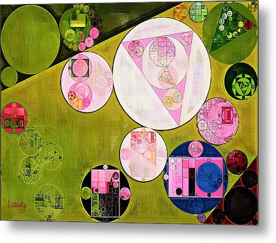 Abstract Painting - Tea Rose Metal Print